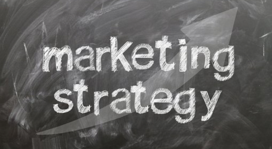 Marketing Strategy written on chalkboard
